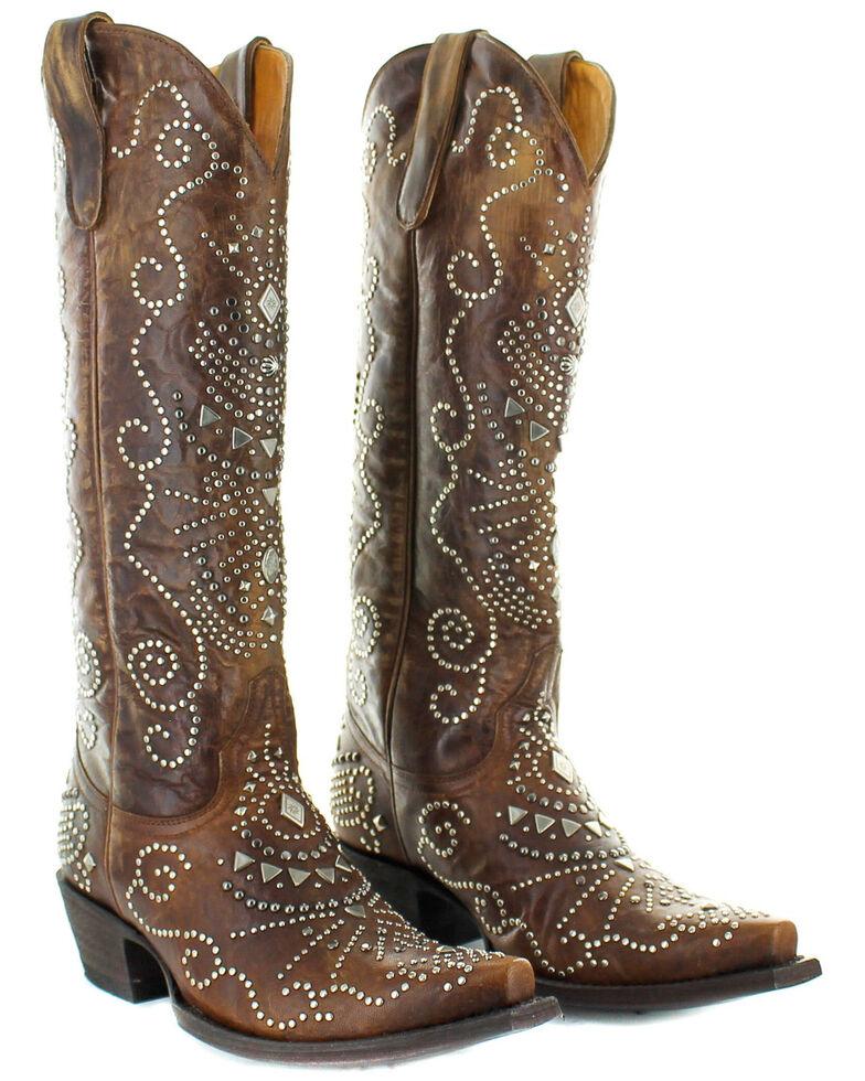 Old Gringo Women's Alyssa Western Boots - Snip Toe, Brown, hi-res