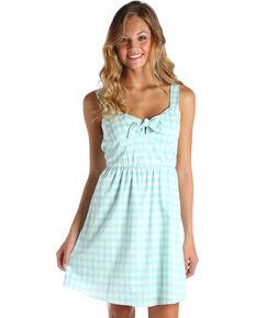7d5fa41e3d Wrangler Women's Green/White Gingham Western Dress