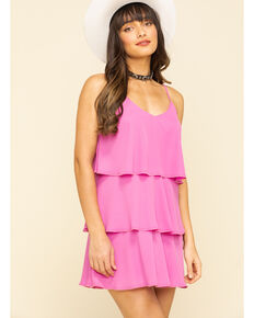 Show Me Your Mumu Women's Suarez Ruffle Dress, Pink, hi-res