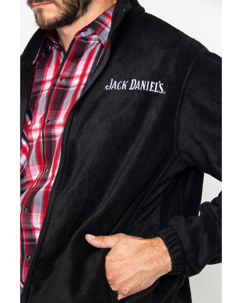 Jack Daniel's Men's Fleece Zip-Up Logo Jacket , Black, hi-res