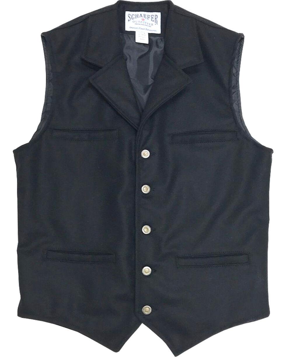 Schaefer Outfitter Men's 704 McCoy Wool Vest - 2XLT / 3XL, Black, hi-res