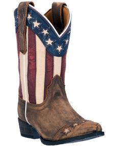 Dan Post Children's Lil' Liberty Western Boots, Tan, hi-res