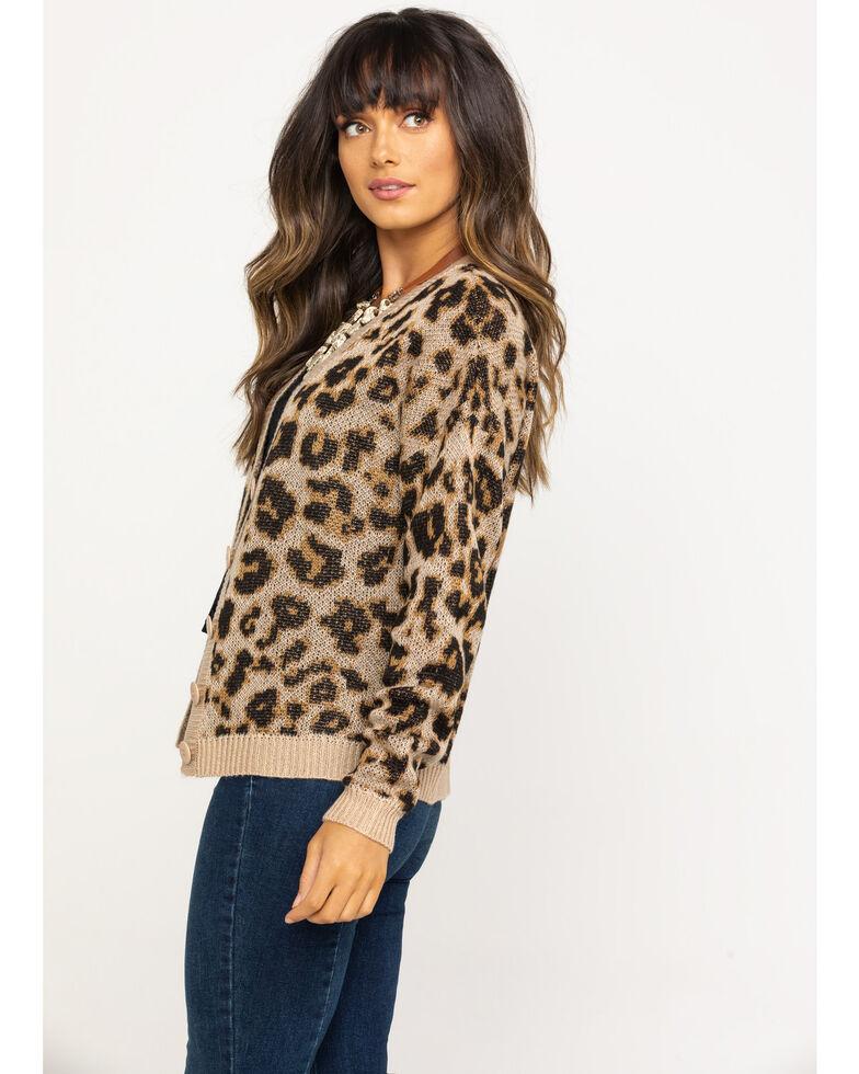 Others Follow Women's Kitty Cardigan , Leopard, hi-res