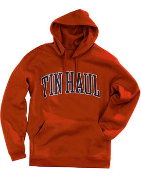 Tin Haul Men's Logo Applique Fleece Hoodie, Rust Copper, hi-res