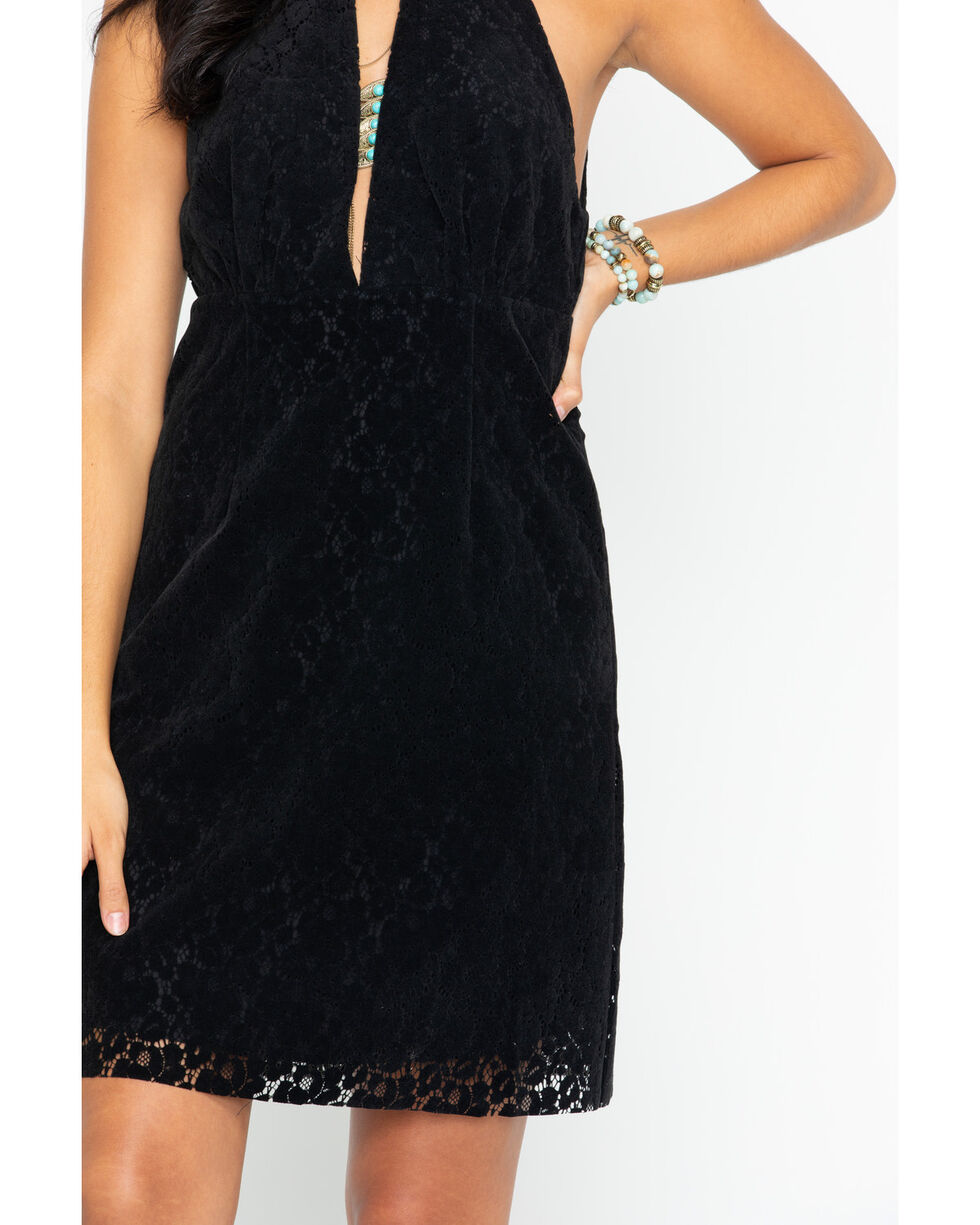 Angel Premium Women's Cyndi Lace Dress, Black, hi-res