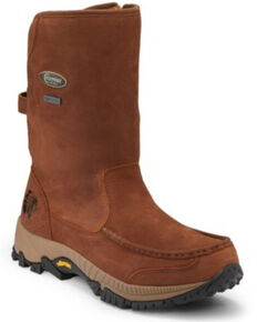 Chippewa Men's Searcher II Western Work Boots - Soft Toe, Brown, hi-res