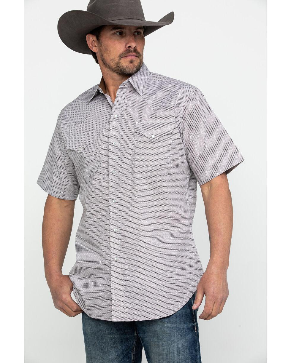Ely Cattleman Men's Assorted Ditzy Print Short Sleeve Western Shirt , Multi, hi-res