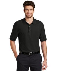 Port Authority Men's Black 3X Silk Touch Short Sleeve Polo Shirt - Big , Black, hi-res