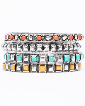 Shyanne Women's Isla Jane Multi-Colored Bangle Set, Multi, hi-res
