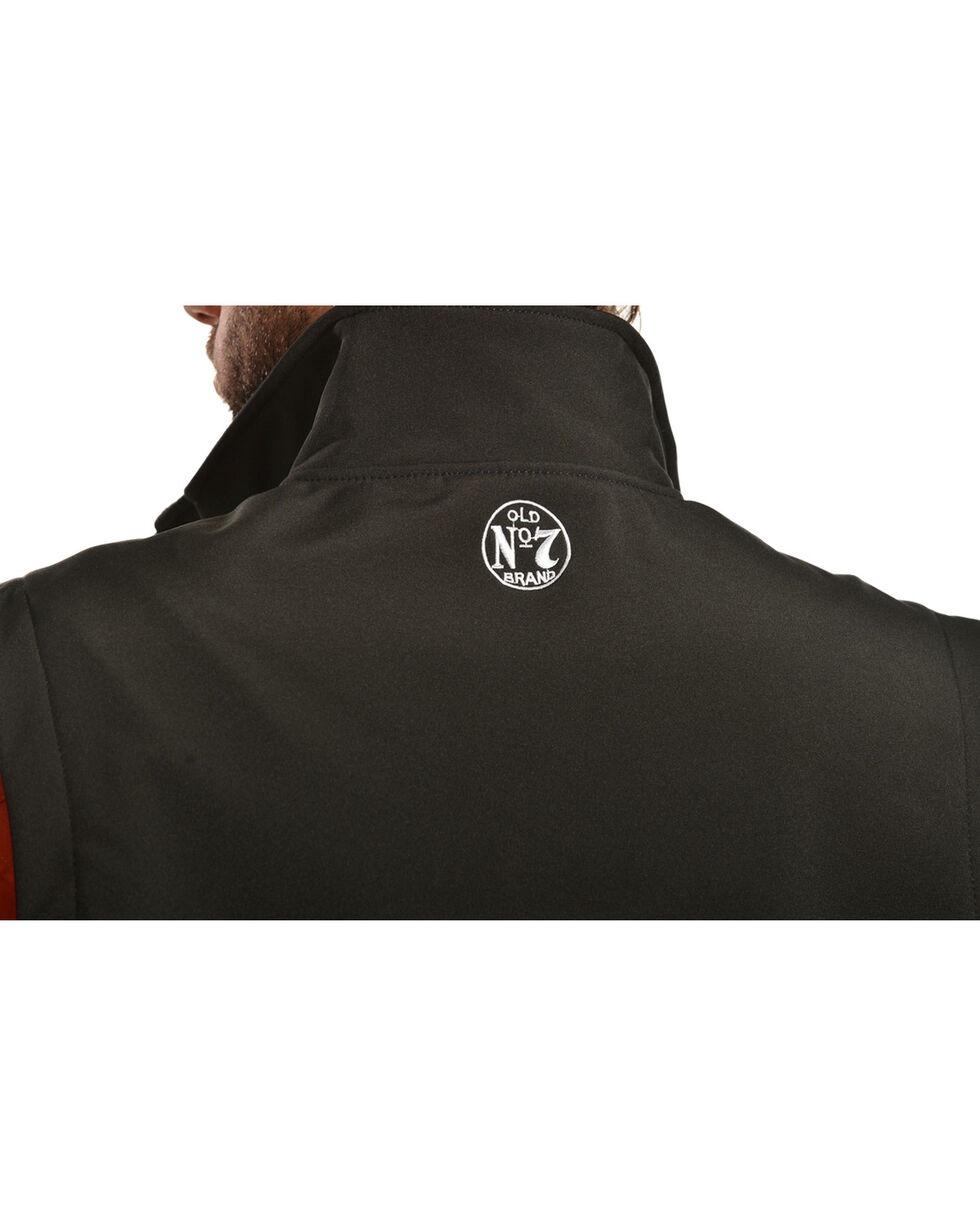 Jack Daniel's Men's Old No. 7 Softshell Vest, Black, hi-res