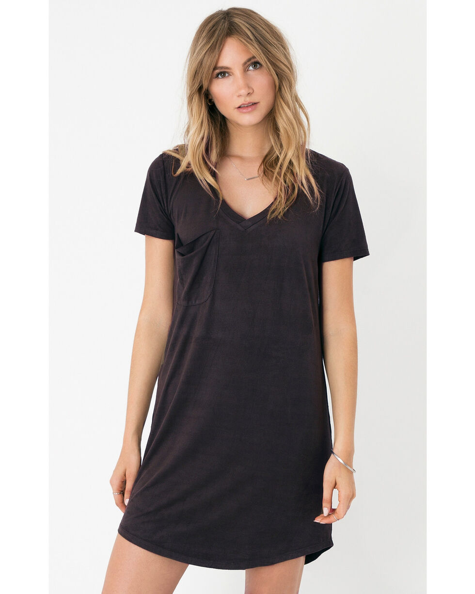 Z Supply Women's Black The Suede Dress, Black, hi-res