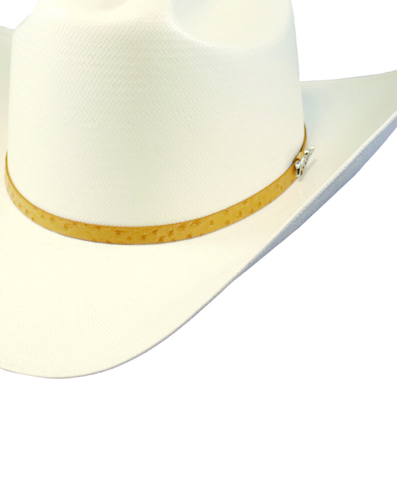 Tony Lama Men's Ivory 50X Valle Straw Western Hat , Ivory, hi-res