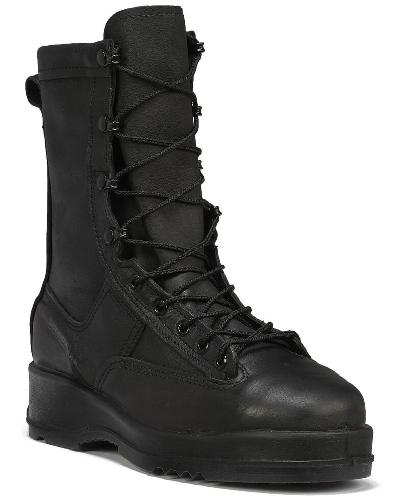 Belleville Men's Flight Waterproof Tactical Boots - Steel Toe, Black, hi-res