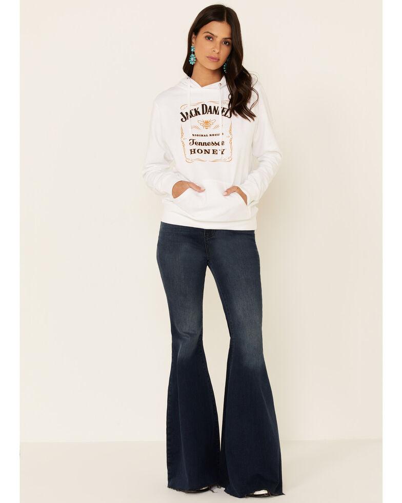 Jack Daniel's Women's Black Traditional Logo Label Hoodie, White, hi-res