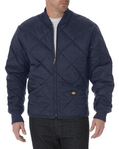 Dickies Diamond Quilted Nylon Work Jacket - Big & Tall, Navy, hi-res