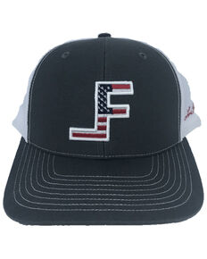 Lane Frost Men's Courage Flag Logo Ball Cap , Charcoal, hi-res