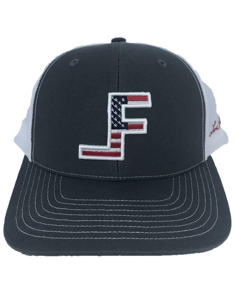 Lane Frost Men's Courage Flag Logo Ball Cap , Charcoal, hi-res