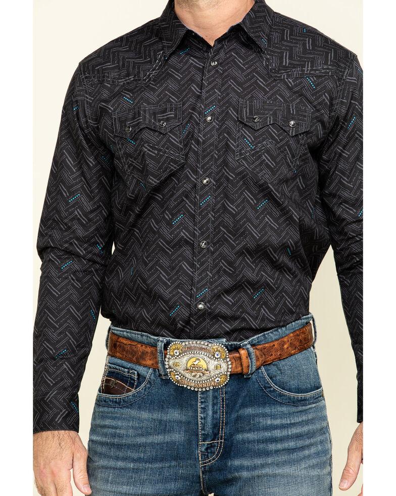 Cody James Men's Mesa Ridge Aztec Print Long Sleeve Western Shirt - Big , Black, hi-res