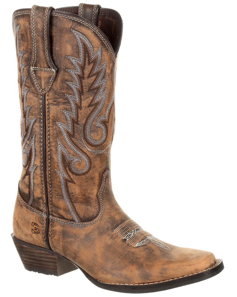 Durango Women's Dream Catcher Western Boots - Square Toe, Brown, hi-res