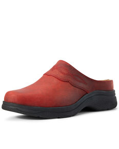 Ariat Women's Bridgeport Mule Shoes - Round Toe, Red, hi-res