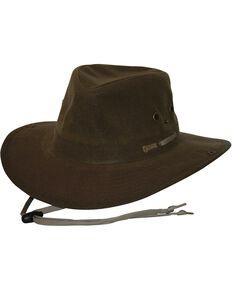Outback Unisex Oilskin River Guide Hat, Brown, hi-res