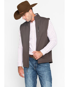 Cody James Men's Bonded Arrowhead Vest , Brown, hi-res