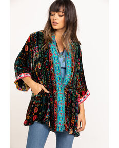 Johnny Was Women's Abril Velvet Reversible Kimono, Multi, hi-res