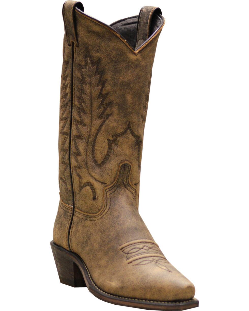 "Abilene Women's 11"" Classic Western Boots, Beige, hi-res"