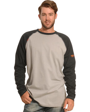 Ariat Men's FR Baseball Tee, Black, hi-res