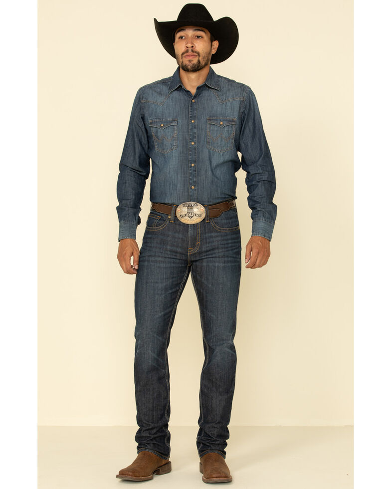 Cody James Men's Night Hawk Basic Stretch Slim Straight Jeans , Blue, hi-res