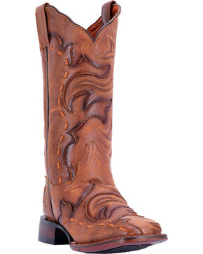 Dan Post Women's Queen Brown Western Boots - Square Toe, Brown, hi-res