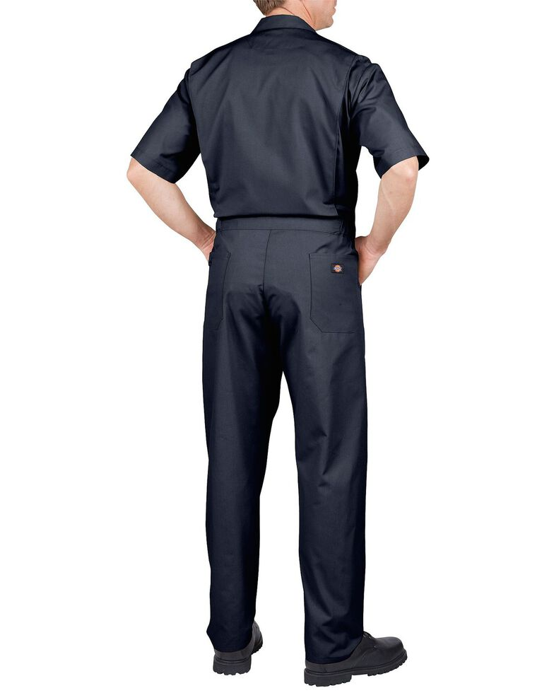 Dickies Short Sleeve Work Coveralls - Big & Tall, Dark Blue, hi-res