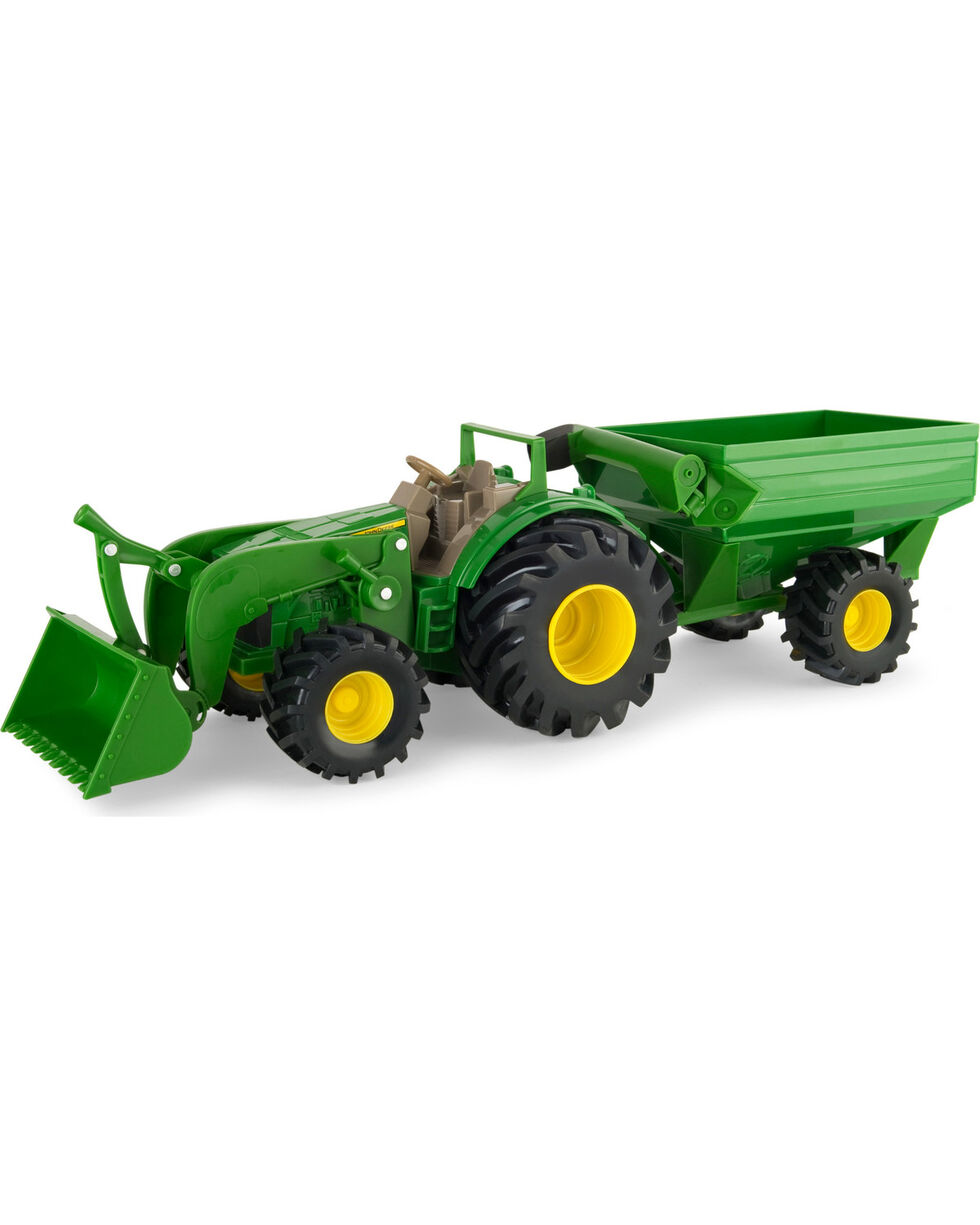 John Deere Monster Treads Tractor with Wagon Loader , No Color, hi-res