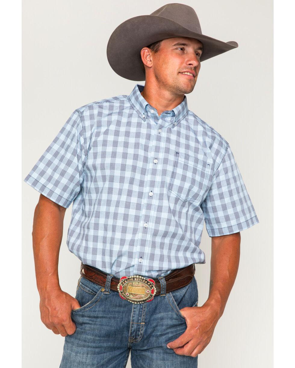Cody James Men's Waco Short Sleeve Button Down Shirt , Blue, hi-res