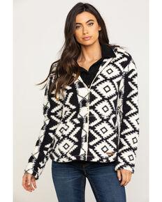 Shyanne Life Women's Aztec Zip Up Fleece Hoodie, Black, hi-res