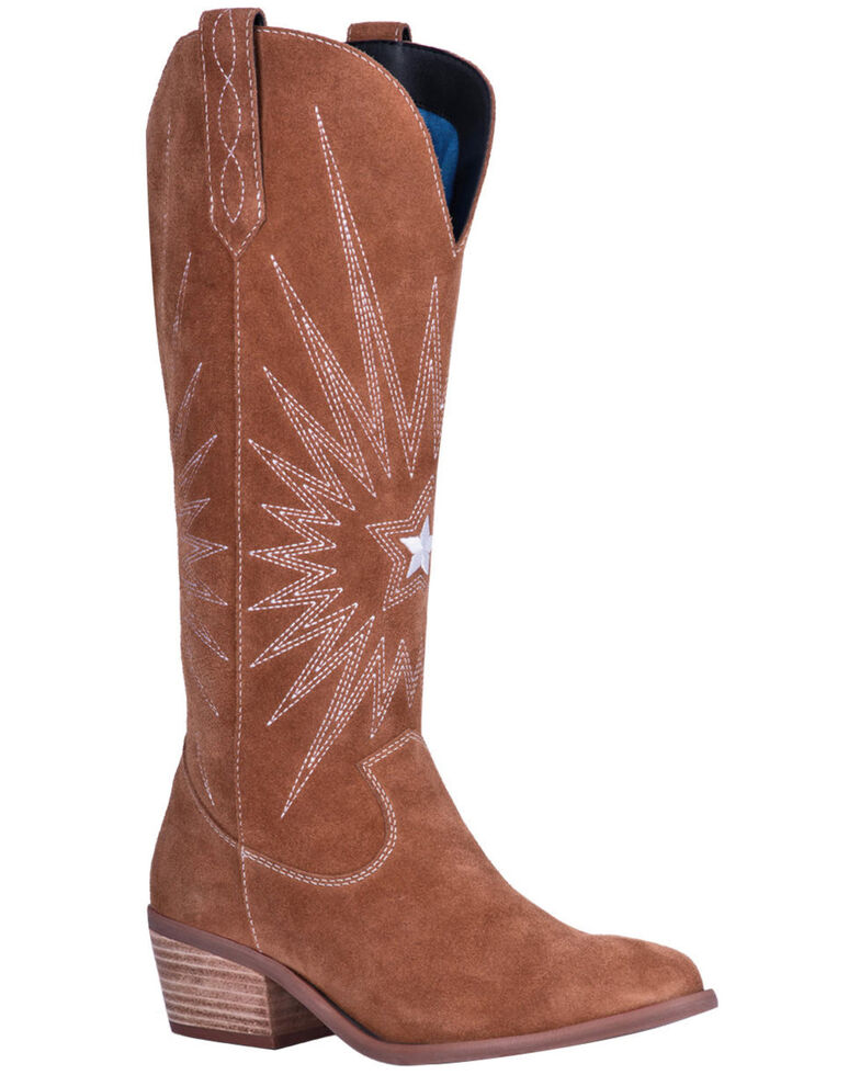 Dingo Women's Star Is Born Western Boots - Round Toe, Brown, hi-res