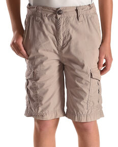 Silver Boys' Six Pocket Cargo Shorts, Grey, hi-res