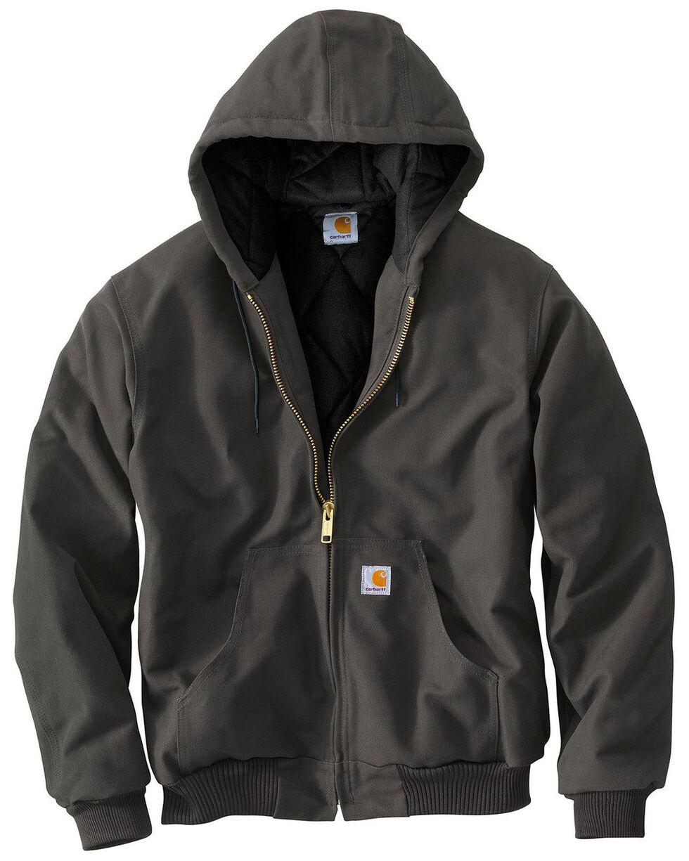 Carhartt Men's Duck Lined Hooded Jacket - Tall, Dark Grey, hi-res