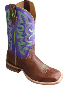 HOOey by Twisted X Men's Square Toe Western Boots, Brown, hi-res