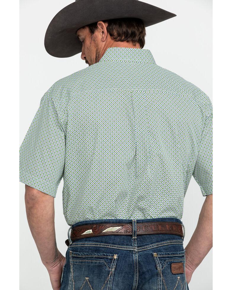 Cinch Men's Cream Geo Print Short Sleeve Western Shirt , Cream, hi-res