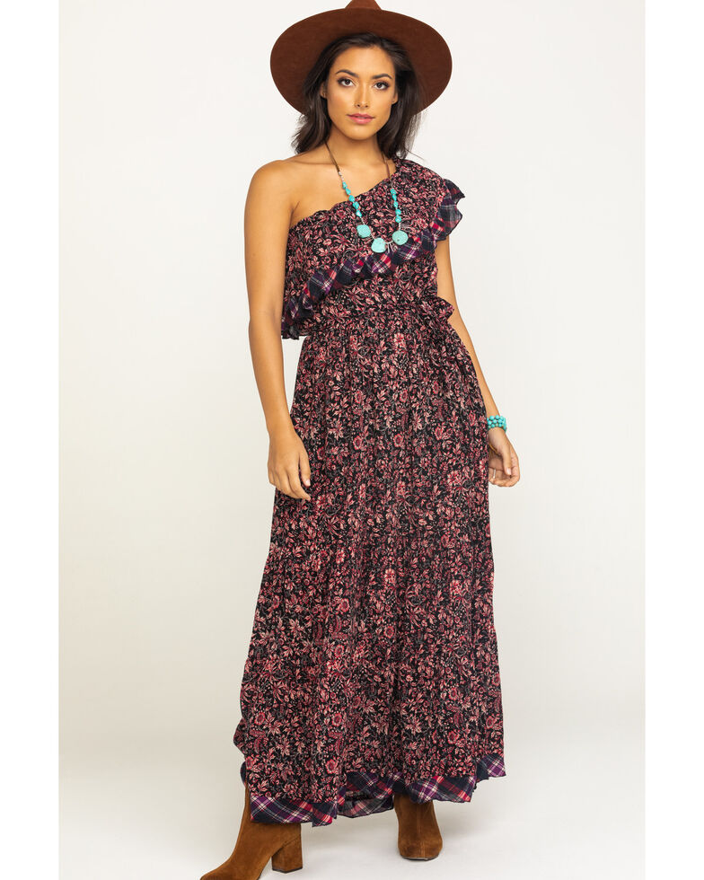 Free People Women's What About Love Maxi Dress, Black, hi-res