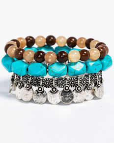 Idyllwind Women's Basic Beaded 3 Bracelet Stack, Multi, hi-res