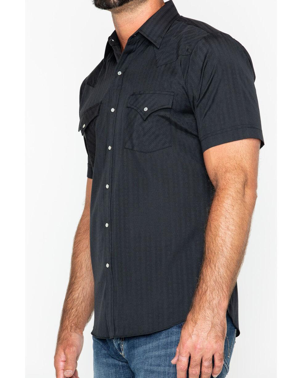 Ely Cattleman Men's Tone On Tone Western Shirt, Black, hi-res