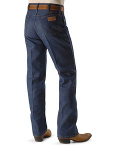 Wrangler Men's Original Fit Rigid Jeans, Indigo, hi-res