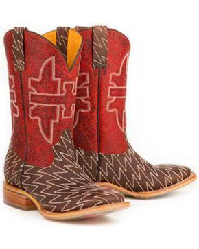 Tin Haul Men's Lightning Lucy Western Boots, Brown, hi-res