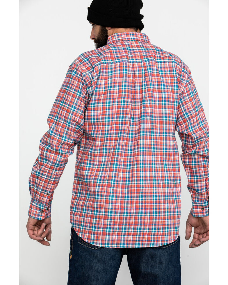 Ariat Men's FR Hunter Classic Plaid Long Sleeve Work Shirt - Big , Bark, hi-res