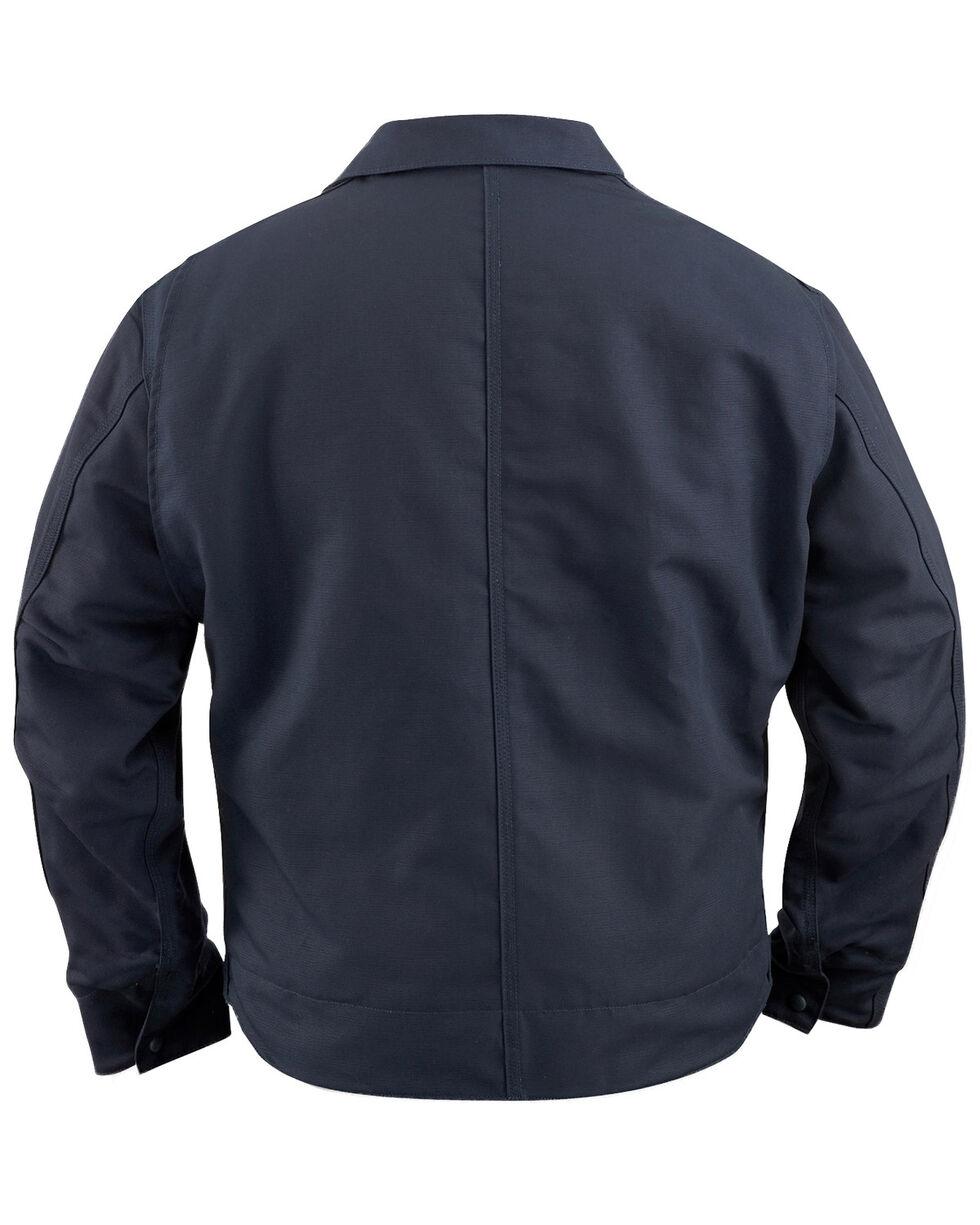 Carhartt Men's Flame-Resistant Canvas Dearborn Jacket - Big & Tall, Navy, hi-res