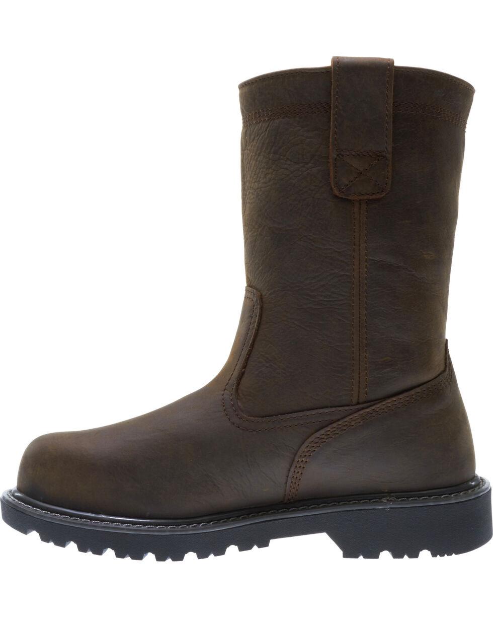 Wolverine Men's Floorhand Waterproof Wellington Work Boots, Dark Brown, hi-res