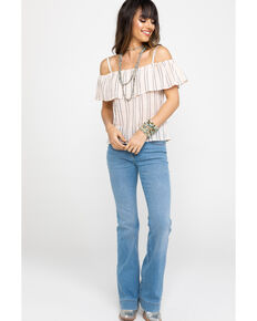 f595318f6fba2 Shyanne Women s Striped Cold Shoulder Top.  39.99. Miss Me ...