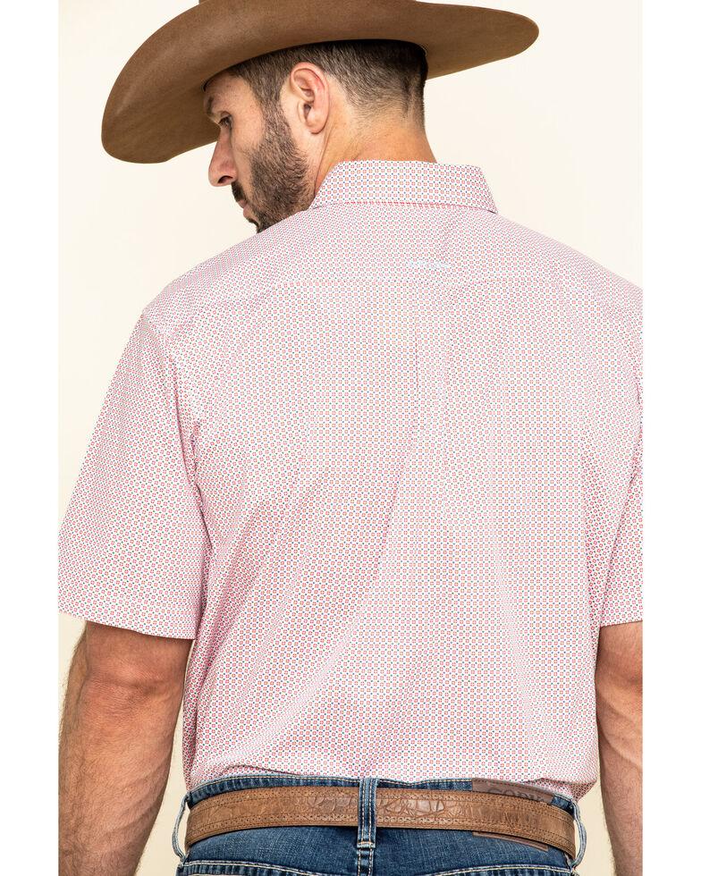 Ariat Men's Nemano Small Geo Print Short Sleeve Western Shirt , White, hi-res